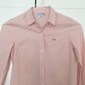 Lacoste Tops - Lacoste long sleeve stripe button down shirt
